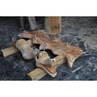Dětské ihrište - Dřevěné dětské houpačky