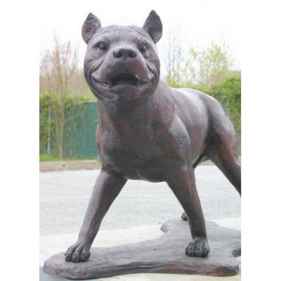 Záhradní bronzová socha - Americký pitbul