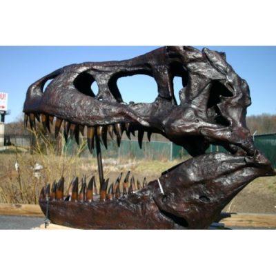 Záhradní bronzová socha - Velká socha tyranosaura Rexe