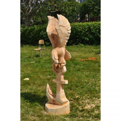 Zahradní dřevěná skluptura - Naděje umřela poslední