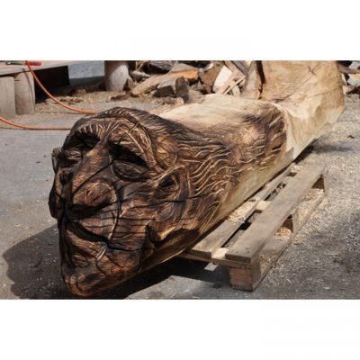 Zahradní dřevěná lavička - Čarodějnice
