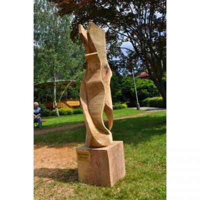 Zahradní dřevěná skluptura - Dotek anděla