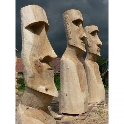 Zahradní dřevěná socha - Dřevěná socha Moai