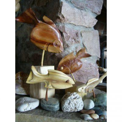Dřevěná socha - Dřevěné rybičky