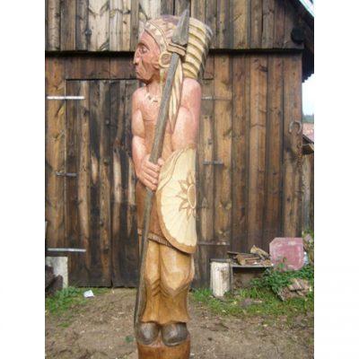 Zahradní dřevěná socha - Dřevěný Indián II