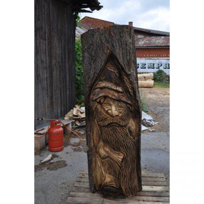 Zahradní dřevěná socha - Dřevěný loupežník