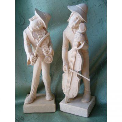 Dřevěná socha - Malí dřevění muzikanti