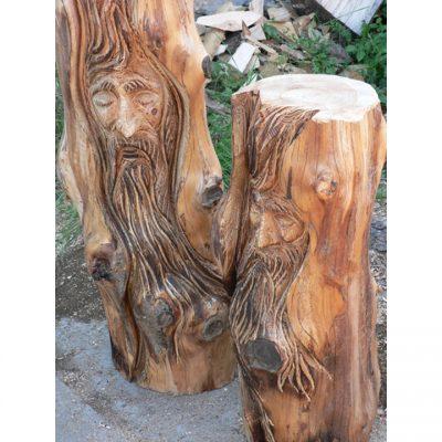 Zahradní dřevěná socha - Dřevěna duše stromů II