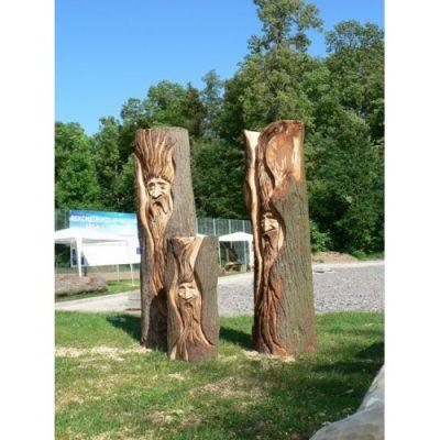 Zahradní dřevěná socha - Dřevěná duše stromů