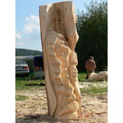 Zahradní dřevěná socha - Ztracený poustevník