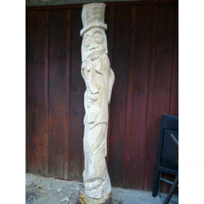 Zahradní dřevěná socha - Smutný vodník