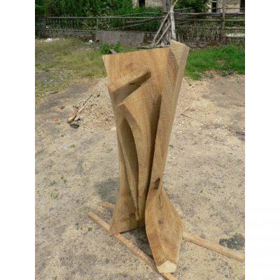Zahradní dřevěná skluptura - Zrod