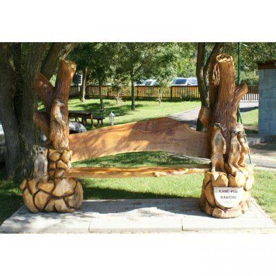 Zahradní dřevěná lavička - Surikaty
