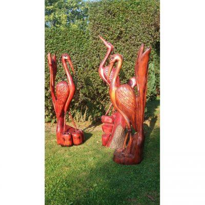 Zahradní dřevěná socha - Dřevěné volavky II