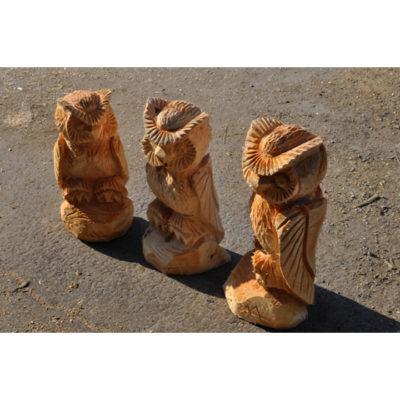 Dřevěné sovičky - socha z drěva