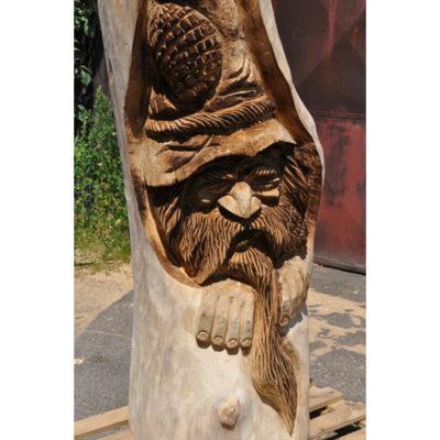 Dřevěný skřítek Stromovous III - socha z dreva